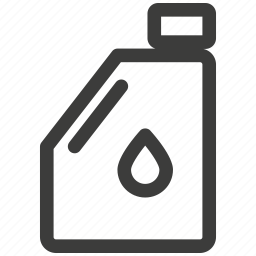 bottle, canister, car, grease, oil, transportation icon