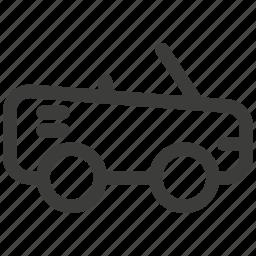 auto, automobile, car, convertible, journey, transport, transportation icon