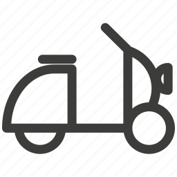 delivery, entertainment, rest, scooter, traffic, transportation icon