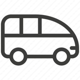 auto, automobile, bus, car, delivery, transport, transportation icon