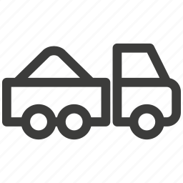 car, delivery, transport, transportation, travel, truck, trucking icon