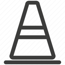 attention, car, caution, cone, danger, transportation, warning icon