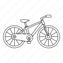 bicycle, bike, line, outline, pedal, travel, wheel icon