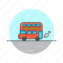 bus, road, transportation icon