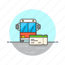 bus, city, pass, road, ticket, transit, transportation, travel icon