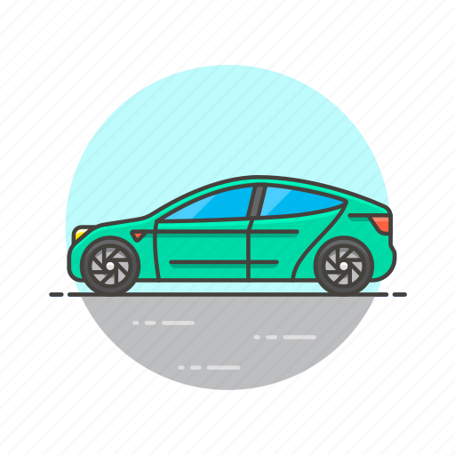 automobile, car, green, road, transportation, vehicle icon