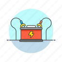 battery, car, part, power, road, transportation icon