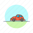 car, transportation, road, beetle, automobile, red, vehicle