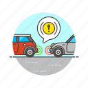 bump, car, road, security, system, transportation, automobile icon