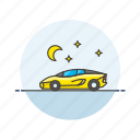 automobile, car, ferrari, road, sport, transportation, vehicle, yellow icon