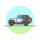automobile, car, jeep, road, transportation, vehicle icon