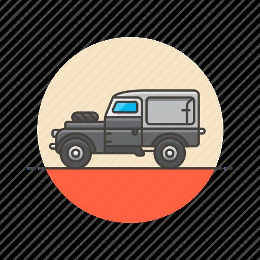 automobile, car, jeep, road, transportation, vehicle icon
