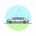 automobile, car, limousine, road, transportation, vehicle, wedding icon