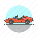automobile, car, red, road, sport, transportation, vehicle icon