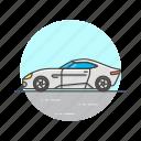car, sport, transportation, road, automobile, white, vehicle