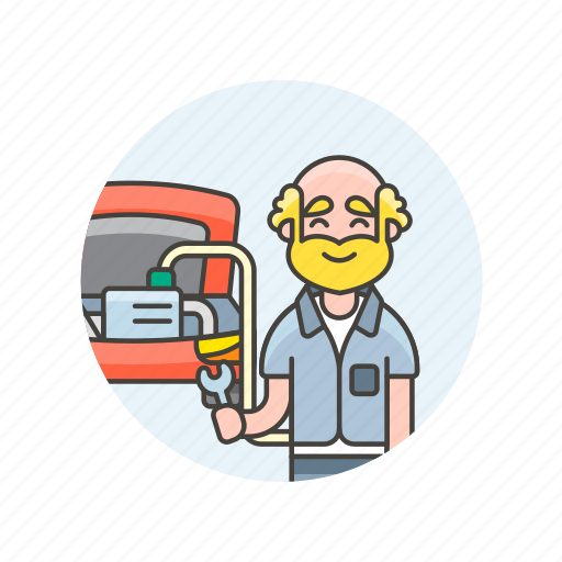 car, fix, man, mechanic, road, transportation, vehicle icon