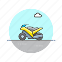bike, motor, racing, ride, road, transportation, vehicle icon