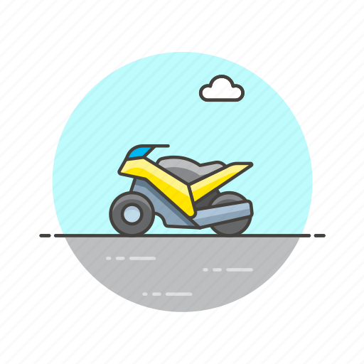 bike, motor, racing, ride, road, transportation, vehicle icon