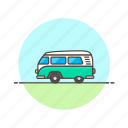 hippie, road, transportation, travel, van, vehicle icon