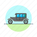 automobile, car, retro, road, transportation, vintage icon