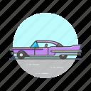 car, road, transportation, vintage icon