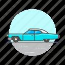 automobile, car, retro, road, transportation, vehicle, vintage icon