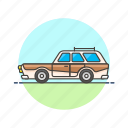 automobile, car, road, transportation, vehicle, vintage icon