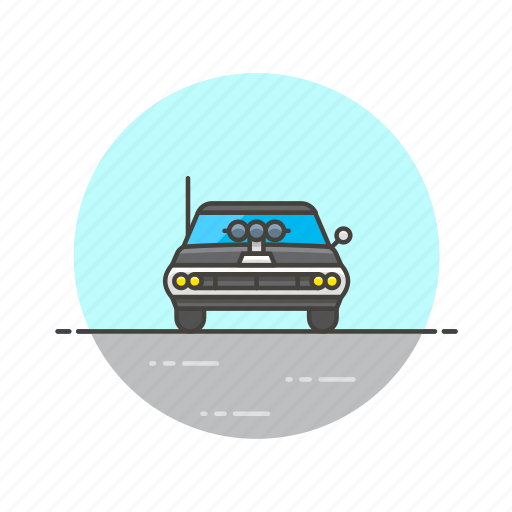 automobile, car, racing, road, transportation, vehicle, vintage icon