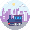 goods train, local transport, locomotive train, train engine, transport icon