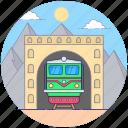 local train, local transport, railway road, railway track, transport icon