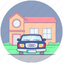 fast car, luxury car, old car, personal car, sports car icon