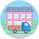 delivery cargo, delivery services, delivery truck, delivery vehicle, goods delivery truck, logistics icon