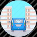 minibus, minivan, minivan local transport, passenger wagon, public transport icon