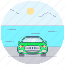 convertible sports car, fast car, luxury car, personal car, racing car, sedan car icon