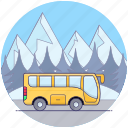 autobus, charabanc, coach, local bus transport, local transport, public transport, vehicle icon