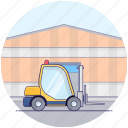 delivery lifter, fork lift, forklift truck, lifter, logistics lifter, transport icon
