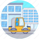 bulldozer, construction bulldozer, construction vehicle, earth mover, industrial bulldozer machine, industrial machinery icon