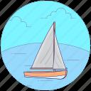 beach boat, beach fun, canoeing, rafting, summer fun, water sports icon