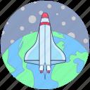 missile, space rocket, spacecraft, spaceship, startup icon
