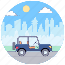 automobile, car, hiking jeep, land rover, off road jeep, quadro, transportation icon