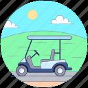 beach buggy, dune buggy, golf car, golf cart, golf trolley icon