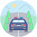 cop car, patrol police car, police car, police transport, police vehicle, traffic police car icon