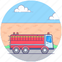 emergency transport, fire brigade, fire control transport, fire department, fire engine icon