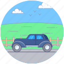 automobile, car, hiking jeep, land rover, quadro, transportation icon