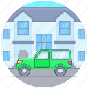 automobile, car, hiking jeep, land rover, transportation, travelling quadro icon