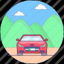 convertible sports car, fast car, luxury car, personal car, racing car icon