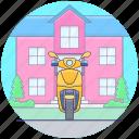 bike, heavy racing bike, motorbike, personal bike, scooter, sports scooter icon