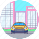 convertible sports car, fast car, personal car, personal luxury car, racing car icon