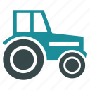 agricultural, agriculture, farming, machinery, tractor, vehicle, wheeled icon