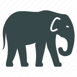 animal, elephant, fauna, mammal, mammoth, nature, wildlife icon